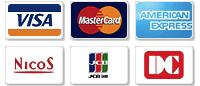 ビサ、マスター、アメックス、ニコス、DC、UC、各種クレジットカードの画像